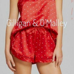 🌷Gilligan & O'Malley red polka dot pj shorts XL